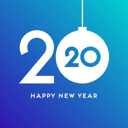 2020 Happy New Year vector concept