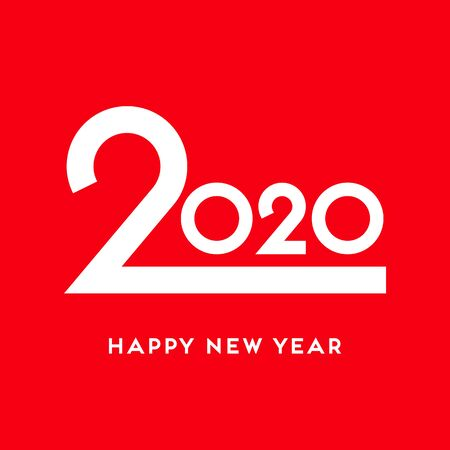 2020 Happy New Year vector design