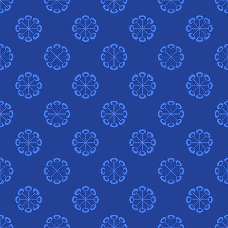 Stylish flower geometric shapes seamless vector pattern.