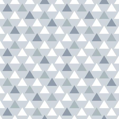 Minimal vector geometric seamless pattern in flat style. Ilustração