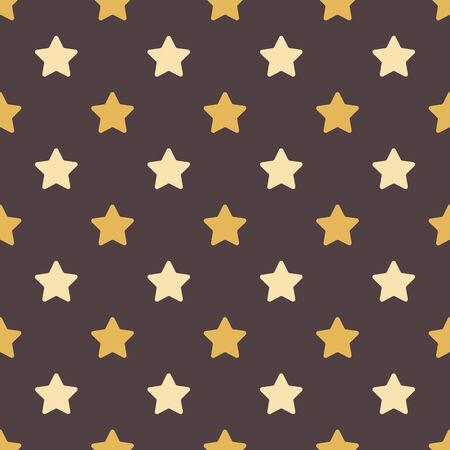 Cute stars vector seamless pattern in flat style.