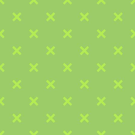 Green clean vector geometric seamless pattern in flat style. Ilustração