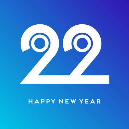 2020 Happy New Year vector concept. Flat modern illustration