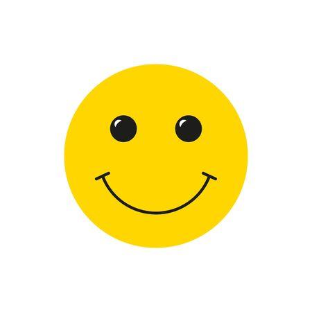 Smiling happy emoticon face vector icon. Ilustração