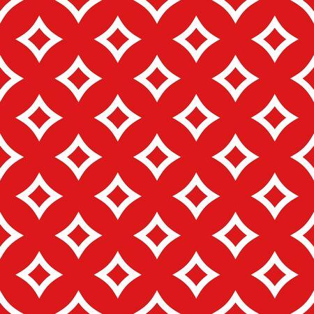 Simple geometric vector seamless pattern in flat modern style. Ilustração