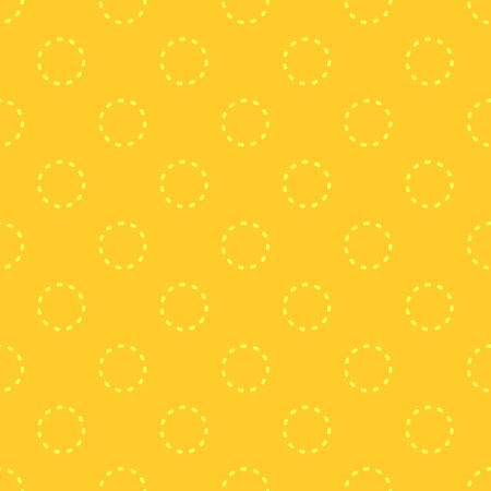 Yellow geometric seamless vector pattern with funny dots.