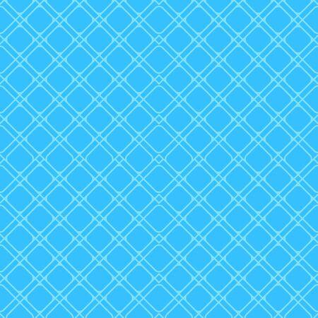 Blue geometric linear vector seamless pattern in minimal flat style. Ilustração