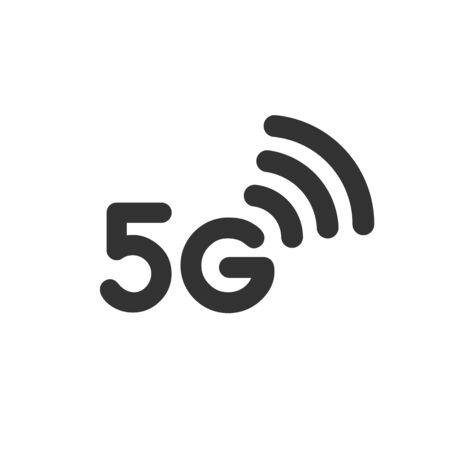 5g wifi network internet vector icon isolated on white background. Illustration for website or graphic design