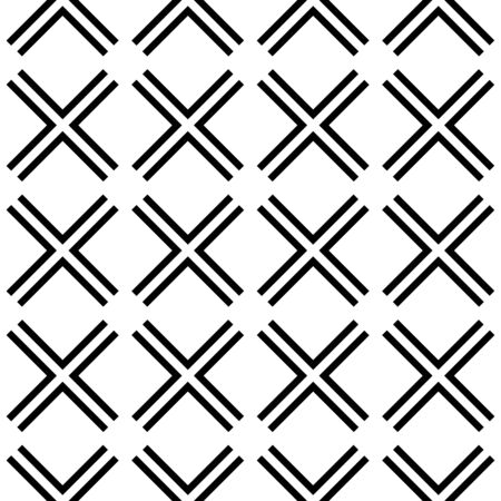 Geometric vector seamless pattern  on white background.