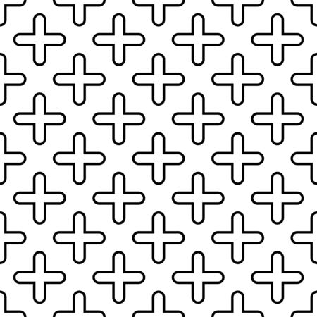 Geometrical shapes seamless vector pattern.