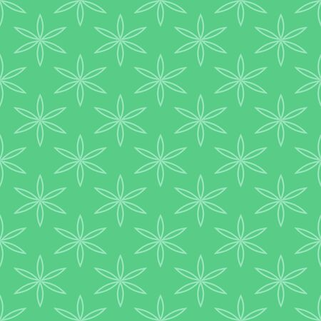 Floral vector seamless pattern in green color.