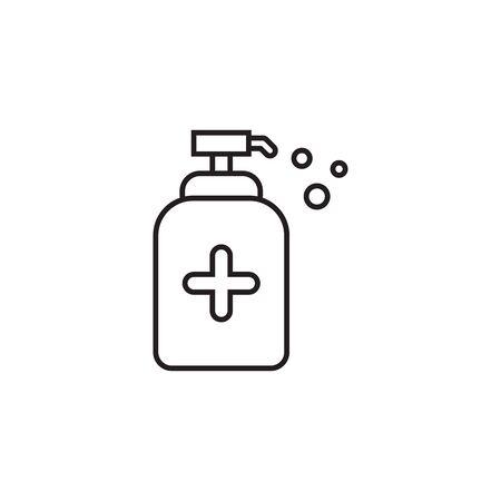 Antiseptic gel vector flat icon isolated on white background Ilustração