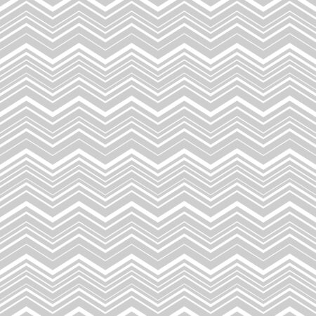 Geometrical vector seamless pattern with zigzag in gray color isolated on white background.