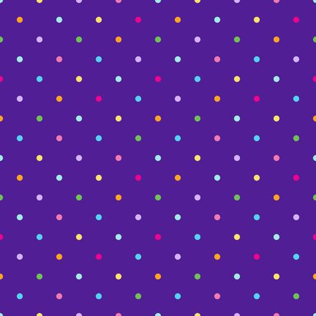 Fun dotted seamless vector pattern isolated on white background.