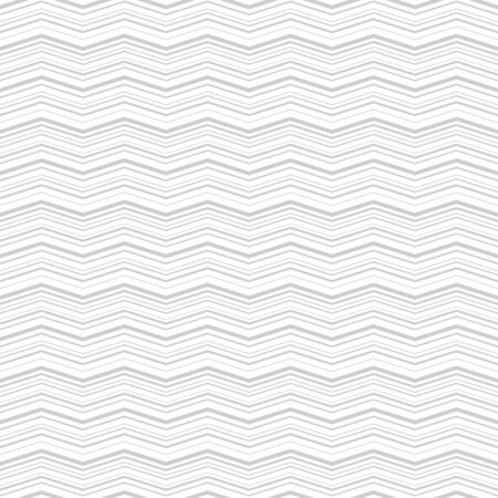 Subtle vector seamless pattern with zigzag in gray color isolated on white background. Ilustração