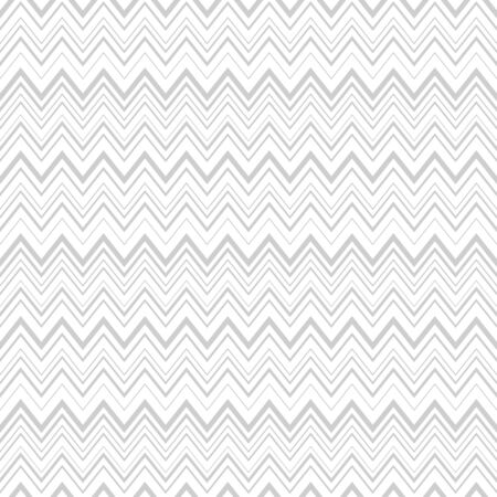 Subtle chevron vector seamless pattern in gray color isolated on white background. Ilustração