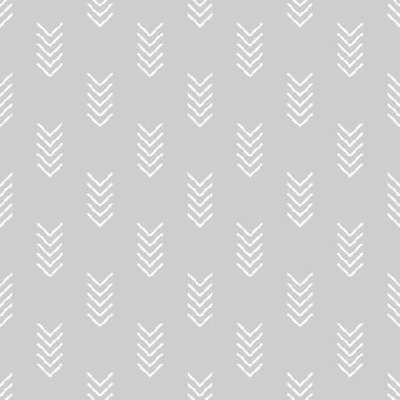 Gray herringbone seamless vector pattern. Ilustração