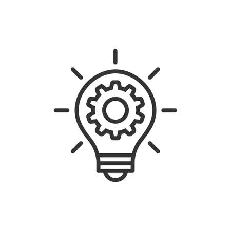 Innovation concept light bulb and cog vector icon