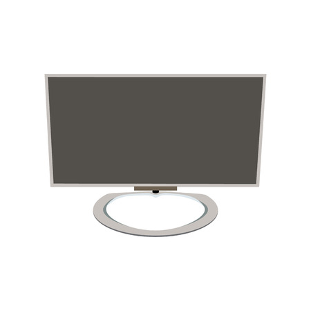 lcd: lcd tv monitor, vector illustration TV on a round base Illustration
