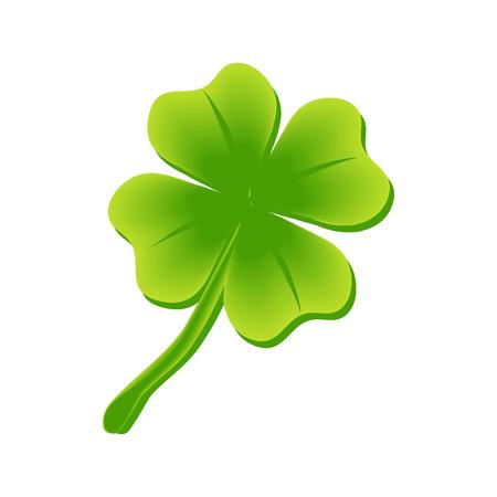 four leaf clover, St Patricks day vector illustration Illustration