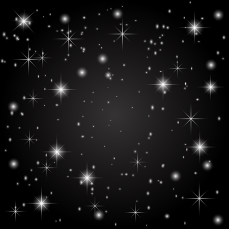 starfield: The starry sky on a black background. Abstraction. Vector illustration Illustration