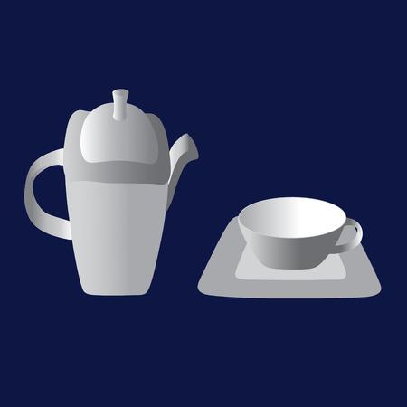Vintage tea set. Happy tea drinking