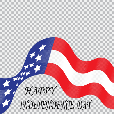 Tape stylized colors of the national flag of the United States in honor of Independence Day.  illustration Stock Illustration - 66307742