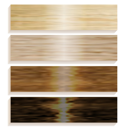 wood flooring: Set the boards of various wood. Laminated flooring. Wooden background. Wood texture. vector illustration
