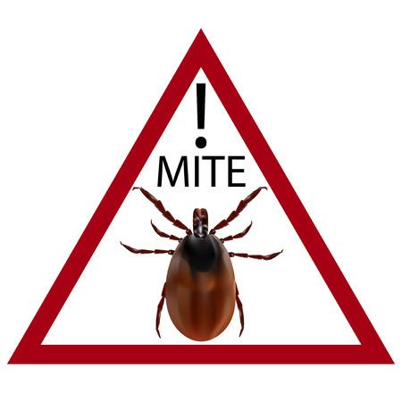 carefully: Warning sign. Carefully harvest bug. Vector illustration