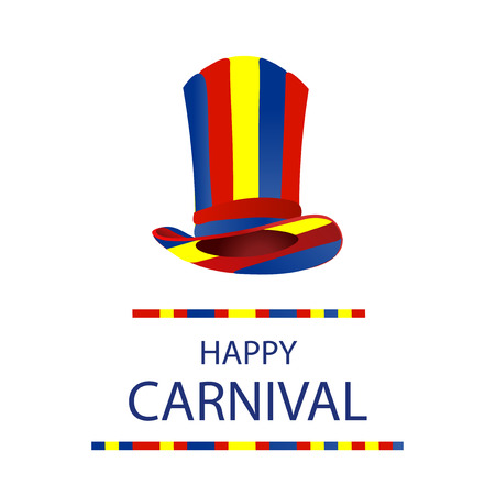 costume ball: Color Bright hat for a carnival. Happy carnival.  illustration