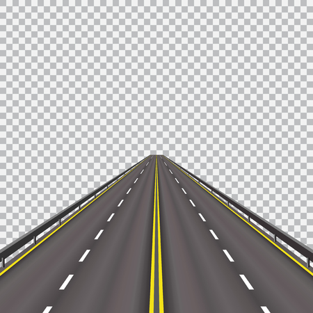 High-speed highway in the future. Isolated on a checkered background.  illustration Stock Photo