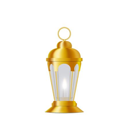 Ramadan Kareem. Lantern in oriental style. Isolated on white background. Vector illustration.