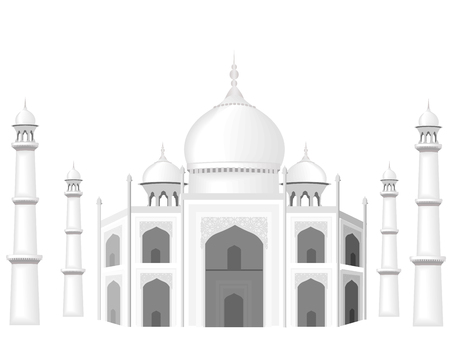 mohammad: The building is in the style of the Taj Mahal temple. The Sultan s Palace. Black and white graphics with halftones. illustration