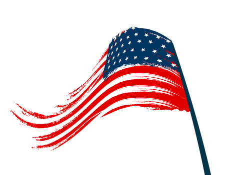 Stylized national flag on white background. illustration