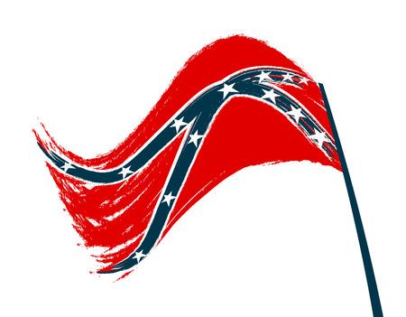 Stylized Confederation flag on white background. illustration Illustration