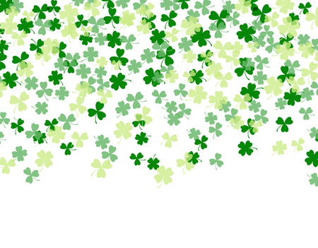 Patrick s Day. Clover leaves isolated on white background. Flat design. illustration