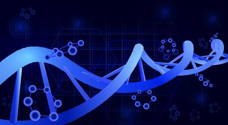 DNA helix. 3d. Science education genetics Vector illustration