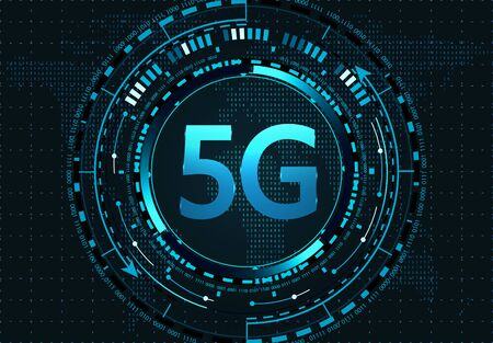 5G New wireless high-speed Internet connection and WiFi. Illustration