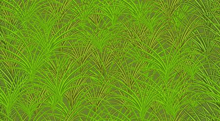 Seamless image of green realistic grass isolated on a green background.  illustration Imagens