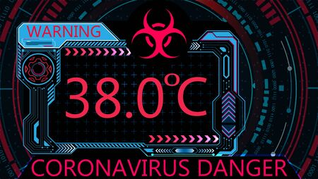 Covid-19. Attention virus. Graphic diagnostics. Coronavirus causes severe SARS. World pandemic.
