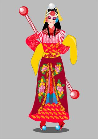 Beijing Opera costume 矢量图像