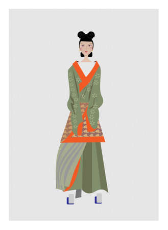 Chinese women of the Northern and Southern Dynasties Ilustrace