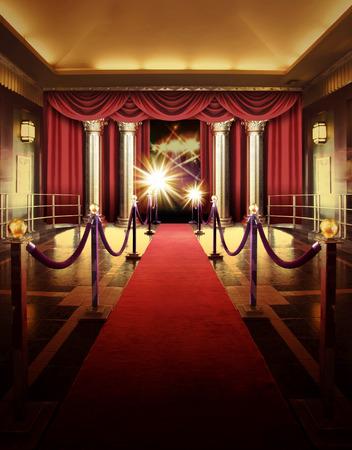 presti: czerwony dywan wejście do teatru rozrywki