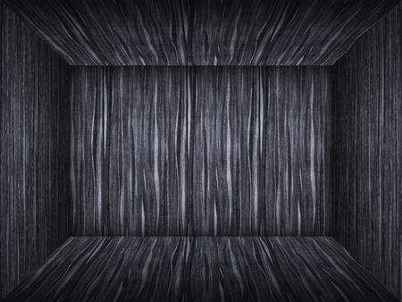 empty room in wood texture photo