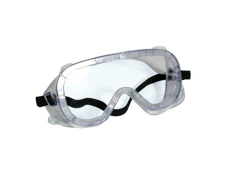 protective goggles on isolate white background