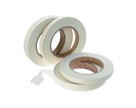 utiles de aseo personal: cintas de esterilización en el fondo blanco aislado Foto de archivo