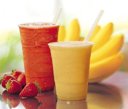 strawberry   banana smoothies photo