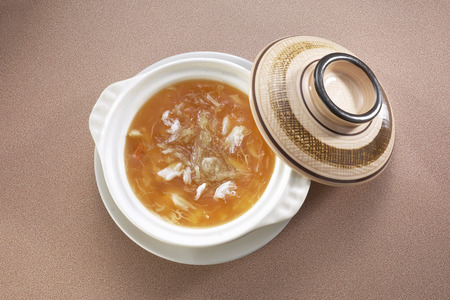crab meat: Shark fin soup