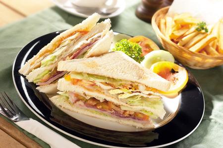 turkey bacon: Set of sandwich