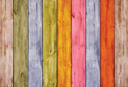 hang up: Colorful wooden fence